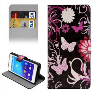 Schutzhülle Muster 4 für Sony Xperia Z3 Plus E6553 Bookcover Tasche Hülle Case