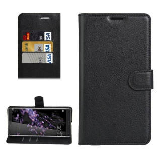 Schutzhülle Schwarz für Huawei Honor Note 8 Bookcover Tasche Case Cover Etui Neu