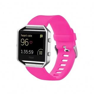 Kunststoff / Silikon Uhr Armband für Fitbit Blaze Watch Pink Zubehör 17-20 cm