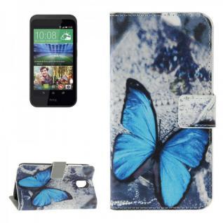 Schutzhülle Muster 42 für HTC Desire 526G Bookcover Tasche Hülle Wallet Case Neu