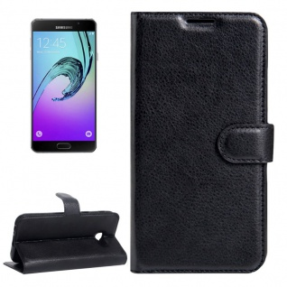 Schutzhülle Schwarz für Samsung Galaxy A5 A520F 2017 Bookcover Tasche Hülle Case