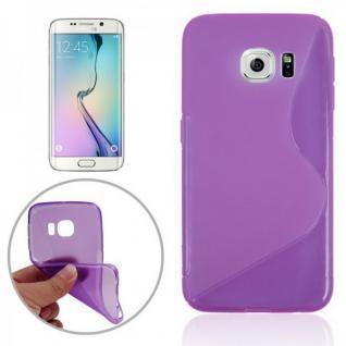 Silikonhülle S-Line Lila Cover Case für Samsung Galaxy S6 Edge G925 G925F Tasche