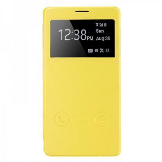 Smartcover Window Gelb für Samsung Galaxy Note 4 N910 N910F Tasche Cover Hülle