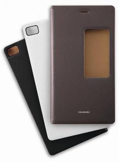 Original Huawei P8 Schutzhülle View Flip Cover WeisTasche Zubehör Case Etui NEU