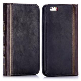 Tasche Book Retro Style für Apple iPhone 6 Plus 5.5 Hülle Case Etui Schutz Cover