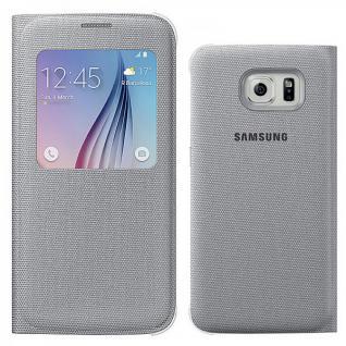Original Samsung GALAXY S6 Schutzhülle Flat S View Cover Fabric EF-CG920BSEGWW