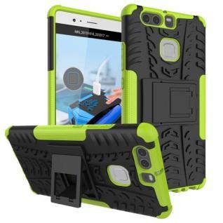 New Hybrid Case 2teilig Outdoor Grün für Huawei P9 Tasche Hülle Cover Schutz Neu