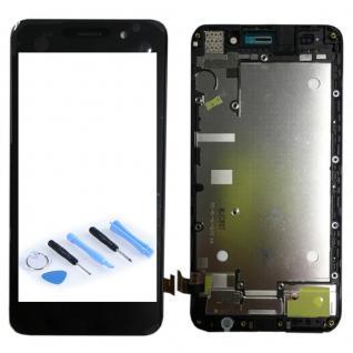 Ersatz Full Display LCD mit Rahmen Komplett für Huawei Y6 Schwarz Reparatur Neu