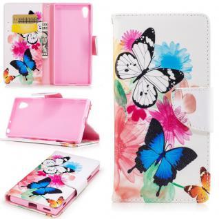 Tasche Wallet Premium Muster 23 für Sony Xperia XA1 Schutz Hülle Case Cover Neu