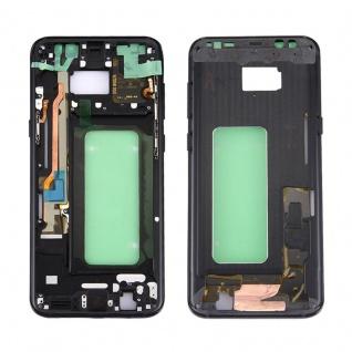 Mittelrahmen Rahmen Kamera Glas Gehäuse f. Samsung Galaxy S8 Plus G955F Schwarz