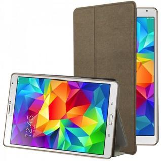 Smartcover Braun für Samsung Galaxy Tab S 8.4 T700 Hülle Case Cover Zubehör