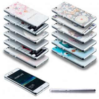 0, 3 mm Ultra dünn Muster Silikon Hülle für Smartphones Tasche Case Schutz Cover