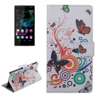 Schutzhülle Muster 2 für Wiko Ridge 4G Bookcover Tasche Hülle Wallet Case Flip