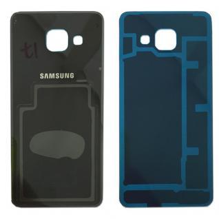 Samsung GH82-11093B Akkudeckel für Galaxy A3 A310F + Klebepad Adhesive Schwarz