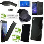 12in 1 Mega Zubehör SET für Sony Xperia Z3 L55T Tasche Hülle KfZ Halterung Kabel