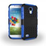 Hybrid Hülle 2 teilig Outdoor Blau Tasche für Samsung Galaxy S4 i9500 i9505 Case