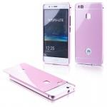 Alu Bumper 2 teilig mit Abdeckung Rosa für Huawei P9 Lite Tasche Hülle Case Neu