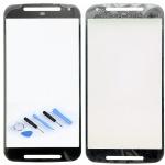 Displayglas Glas Schwarz für Motorola Moto G2 XT1068 Zubehör + Reparatur KIT Neu