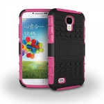 Hybrid Hülle 2 teilig Outdoor Pink Tasche für Samsung Galaxy S4 i9500 i9505 Case