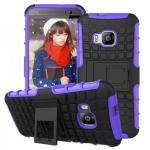Hybrid Case 2teilig Robot Lila Cover Kappe Zubehör für HTC One 3 M9 2015 Hülle