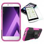 Hybrid Case Tasche 2teilig Pink für Samsung Galaxy A3 2017 A320F + H9 Panzerglas