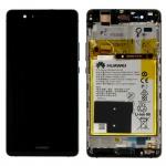 Huawei Display LCD Einheit Rahmen für P9 Lite Service Pack 02351FSE Schwarz Neu
