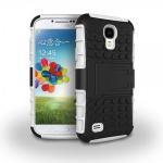 Hybrid Hülle 2 teilig Outdoor Weiß Tasche für Samsung Galaxy S4 i9500 i9505 Case