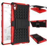 Hybrid Case 2teilig Outdoor Rot Tasche Hülle für Sony Xperia Z5 Premium 5.5 Zoll