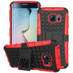Hybrid 2 teilig Outdoor Hülle Tasche Rot für Samsung Galaxy S6 Edge Plus G928 F