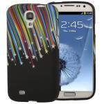 Silikoncase für Muster 5 Samsung Galaxy S4 i9500 i9505 LTE + Displayschutzfolie