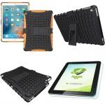 Hybrid Outdoor Schutzhülle Orange für iPad Pro 9.7 Tasche + 0.4 H9 Panzerglas