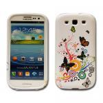 Schutz Silikon Gemustert 2 für Samsung Galaxy S3 i9300 Hülle Cover Case + Folie