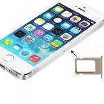 Sim Karten Halter Sim Tray Sim Nano Holder für Apple iPhone 5S 5 Gold Zubehör