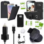 11 in 1 SET für Samsung Galaxy S6 Edge G925F Tasche KfZ Halterung Kabel Folie