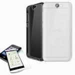 Silikoncase Transparent Tasche + 0, 3 H9 Panzerglas für HTC One A9 Hülle Schutz