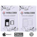 Apple iPhone 5 Adapter Nano Sim 2in1 Set Nano SIM zu Micro Sim Karten iPhone5 4S