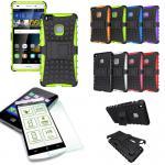 Hybrid Case Tasche Outdoor 2teilig Grün für Huawei P9 Lite + Panzerglas Cover