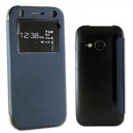 Smartcover Window Dunkelblau für HTC One Mini 2 Tasche Cover Case Hülle Zubehör