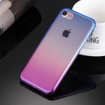 2teilig TPU Schutzhülle Pink Blau Apple iPhone 7 Tasche Hülle Cover Silikoncover