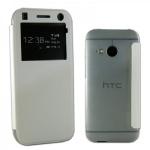 Smartcover Window Weiss für HTC One Mini 2 Tasche Cover Case Hülle Zubehör Neu