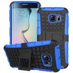 Hybrid Case 2 teilig Robot Blau für Samsung Galaxy S6 Edge G925 G925F Hülle Neu