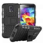 Hybrid Case 2teilig Outdoor Schwarz Tasche Hülle für Samsung Galaxy S5 Neo G903F