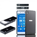 Alu Bumper 2 teilig Abdeckung Schwarz für Sony Xperia Z3 Plus E6553 Dual Tasche