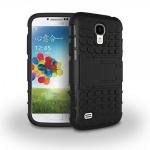 Hybrid Hülle 2 teilig Outdoor Schwarz Tasche für Samsung Galaxy S4 i9500 i9505