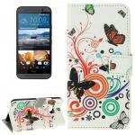 Schutzhülle Muster 2 für HTC One 3 M9 2015 Tasche Cover Case Hülle Etui Schutz