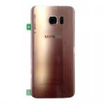 Samsung GH82-11384E Akkudeckel für Galaxy S7 G930F + Klebepad Adhesive Pink