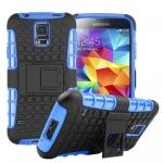 Hybrid Case 2teilig Outdoor Blau Tasche Hülle für Samsung Galaxy S5 Neo G903F