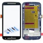 Display Full LCD Komplett Einheit mit Rahmen für Motorola Moto G2 XT1068 Schwarz