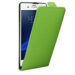Fliptasche Deluxe Grün für Sony Xperia Z3 Plus + E6553 Dual Tasche Case Hülle