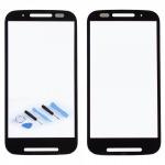 Displayglas Glas Schwarz für Motorola Moto E XT1021 Zubehör + Reparatur KIT Neu